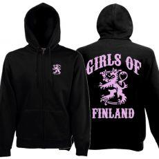 VETOKETJUHUPPARI GIRLS OF FINLAND musta