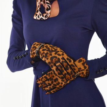 HANSIKKAAT - Gina Leopard Buckle Gloves