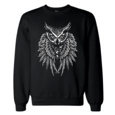 COLLEGE MUSTA - OWL SKULL WINGS (932)