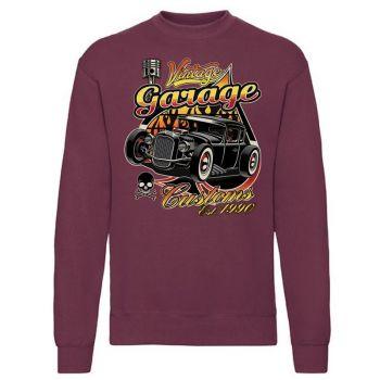 classic COLLEGE Burgundy - VINTAGE GARAGE CUSTOMS (389)