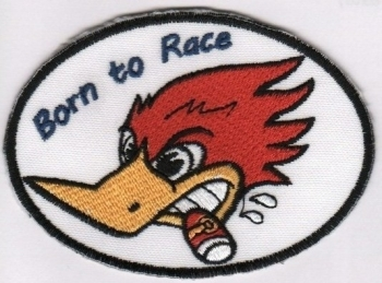 KANGASMERKKI - BORN TO RACE (50028)