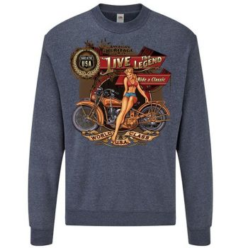 classic COLLEGE Heather Navy - RIDE A CLASSIC (1000)