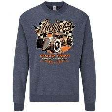 classic COLLEGE Heather Navy - LUCKY 13 SPEED SHOP (783)
