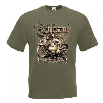 T-PAITA - OLD MOTORCYCLE HOT BABES (744)