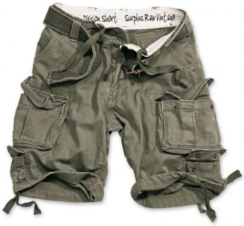 SHORTSIT - DIVISION SHORTS OLIVE WASHED - SURPLUS