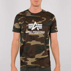 ALPHA T-PAITA maastocamo - Basic T-Shirt Camo - ALPHA INDUSTRIES