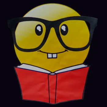 Paitakuva - EMOJI READING BOOK WITH GLASSES (1048)