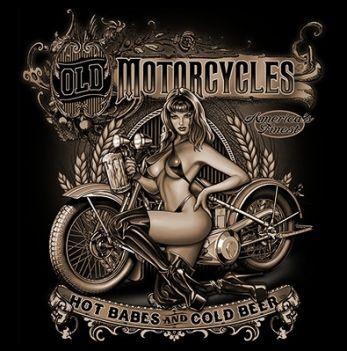 CLASSIC HUPPARI MUSTA - OLD MOTORCYCLES (1091)
