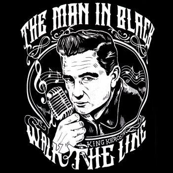 King Kerosin - T-paita - CASH THE MAN IN BLACK