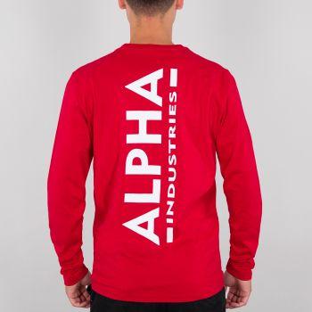 ALPHA COLLEGEPAITA speed red - Back Print Heavy LS - ALPHA INDUSTRIES