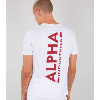 ALPHA T-PAITA valkoinen - Backprint T - ALPHA INDUSTRIES