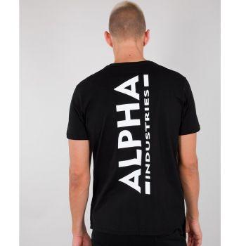 ALPHA T-PAITA musta - Backprint T - ALPHA INDUSTRIES