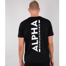 ALPHA T-PAITA musta - Backprint T - ALPHA INDUSTRIES