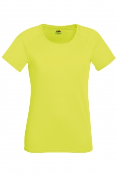 NAISTEN PERFORMANCE T-PAITA Bright Yellow
