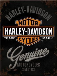 Magneetti Harley-Davidson Genuine logo