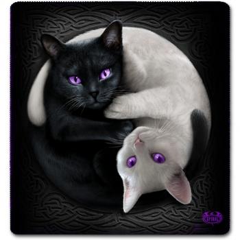 JUMBO FLEECE HUOPA - YIN YANG CATS (FH007) - SPIRAL