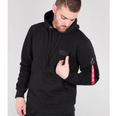 ALPHA HUPPARI - Red Stripe Hoody - ALPHA INDUSTRIES