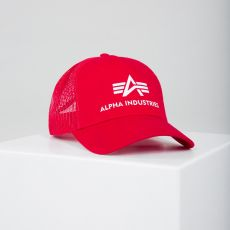 LIPPIS PUNAINEN - Basic Trucker Cap - ALPHA INDUSTRIES