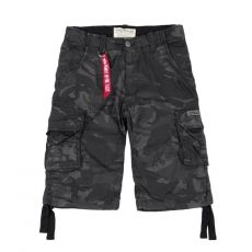 SHORTSIT BLACK CAMO - Jet Short - ALPHA INDUSTRIES