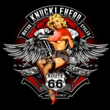 KNUCKLE HEAD PINUP ROUTE 66