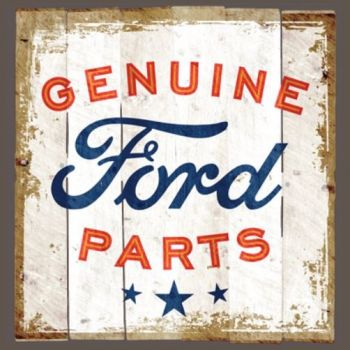GENUINE FORD PARTS LOGO DISTRESSED SIGN (876)