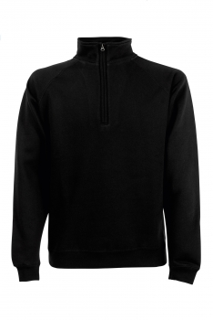 PREMIUM ZIP NECK COLLEGE Black