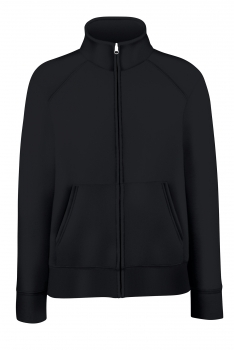 NAISTEN PREMIUM COLLEGE FULL ZIP Black