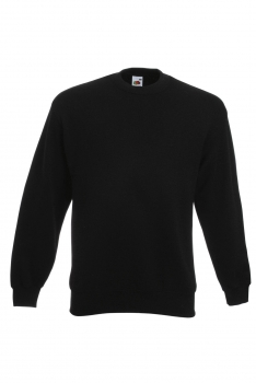 CLASSIC SET-IN SWEAT COLLEGE Black
