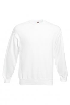CLASSIC SET-IN SWEAT COLLEGE White