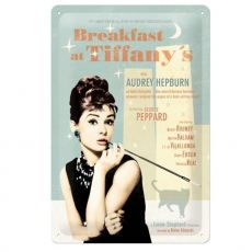 22163 Kilpi 20x30 Breakfast at Tiffany's juliste sininen