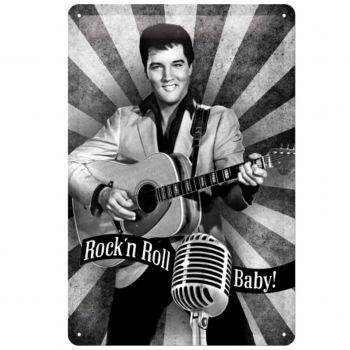 Kilpi 20x30 Elvis Rock'n Roll Baby!