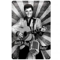 Kilpi 20x30 Elvis Rock'n Roll Baby!