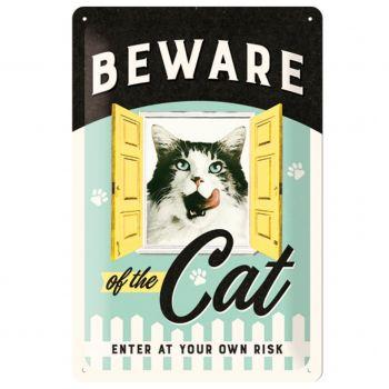Kilpi 20x30 Beware of the Cat