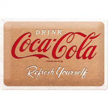 Kilpi 20x30 Coca Cola - Cardboard Logo