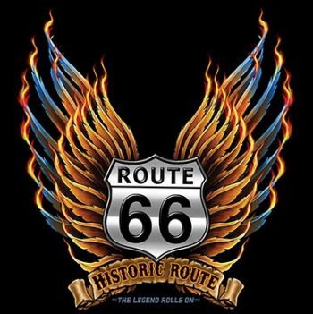 CLASSIC HUPPARI MUSTA - ROUTE 66 WINGS