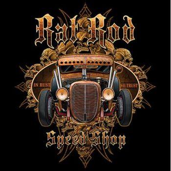HIHATON PAITA MUSTA - RAT ROD SPEED SHOP (431)