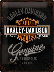 Kilpi 30x40 Harley-Davidson Genuine logo