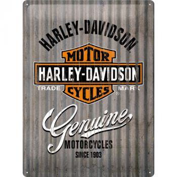 Kilpi 30x40 Harley-Davidson Genuine metalliseinä