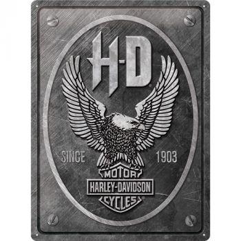 Kilpi 30x40 Harley-Davidson - Metal Eagle