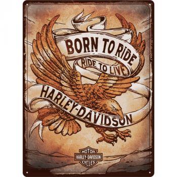 Kilpi 30x40 Harley Davidson - Born to Ride Eagle