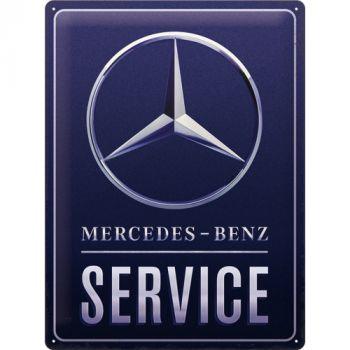Kilpi 30x40 Mercedes-Benz SERVICE BLUE