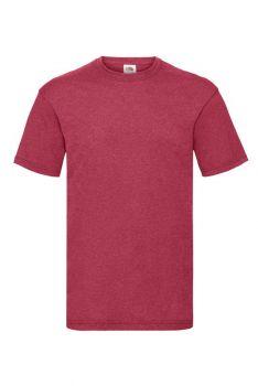 T-paita fruit of the loom meleerattu punainen