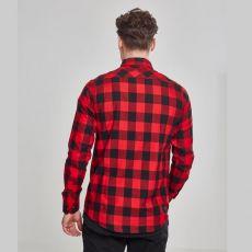 KAULUSPAITA - Checked Flanell Shirt RED - URBAN CLASSICS