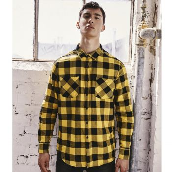 KAULUSPAITA - Checked Flanell Shirt HONEY - URBAN CLASSICS