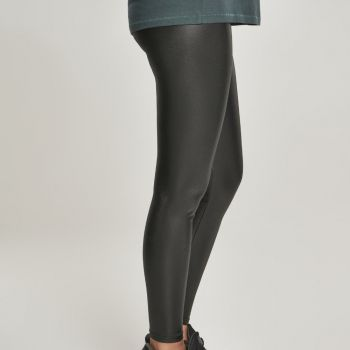LEGGINSIT - Faux Leather High Waist - URBAN CLASSICS