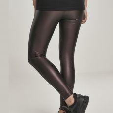 LEGGINSIT - Faux Leather High Waist REDWINE - URBAN CLASSICS