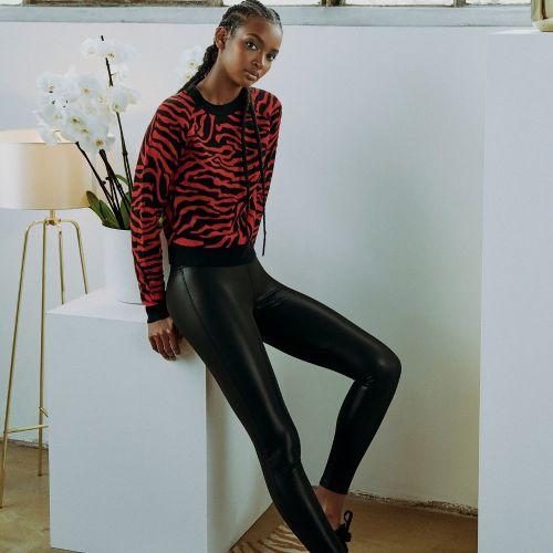 LEGGINSIT - Ladies Faux Leather Leggings - URBAN CLASSICS