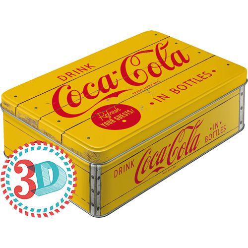 Säilytyspurkki flat Coca-Cola in bottles