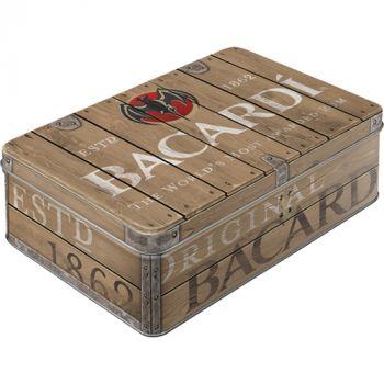 Säilytyspurkki Flat Bacardi - Wood Barrel Logo
