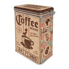 Säilytyspurkki klipsillä Coffee Sack